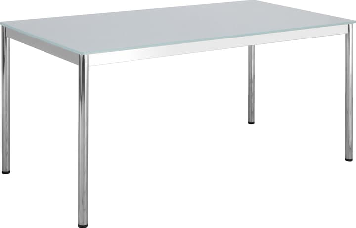 FLEXCUBE Bureau 401835100000 Dimensions L: 180.0 cm x P: 80.0 cm x H: 75.0 cm Couleur Blanc / Verre blanc Photo no. 1