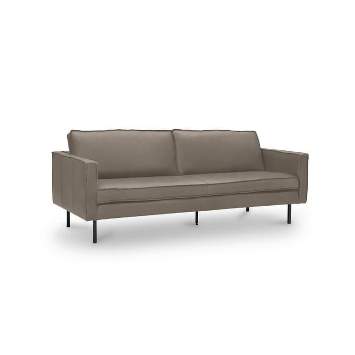 TEXADA canapé en cuir à 3 places 360020026504 Dimensions L: 196.0 cm x P: 95.0 cm x H: 61.0 cm Couleur Gris foncé Photo no. 1