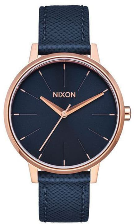 Kensington Leather Navy Rose Gold 37 mm Montre bracelet Nixon 785300137050 Photo no. 1