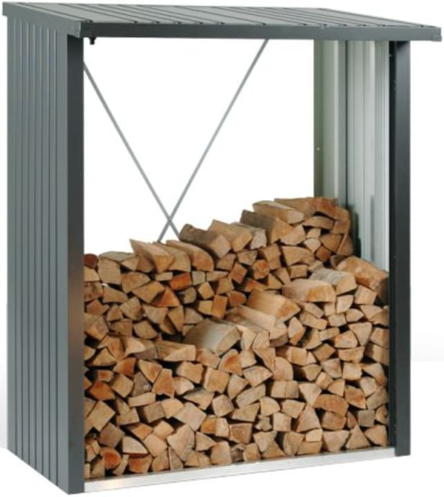 Scaffale per la legna Wood Stock 150 Biohort 647244000000 Colore Grigio Quartz-Metallico N. figura 1