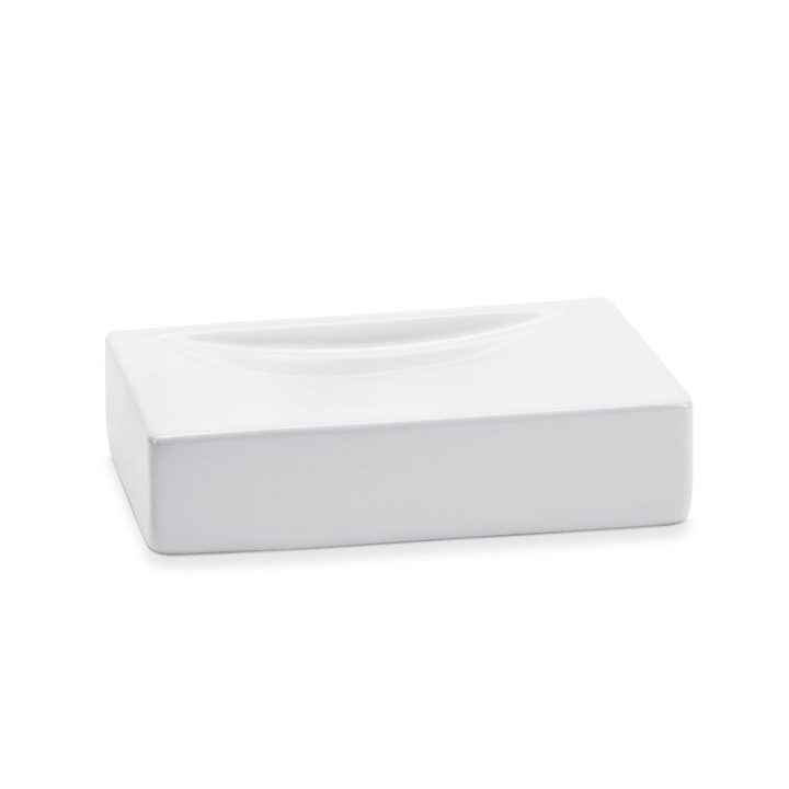 MEILO Porte-Savon 374035000000 Couleur Blanc Dimensions L: 13.0 cm x P: 8.5 cm x H: 3.0 cm Photo no. 1