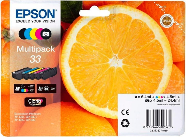 33 Claria Premium Multipack CMYBK/PhBK Cartuccia d'inchiostro Epson 795846300000 N. figura 1