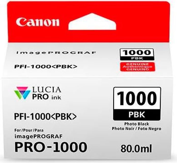 PFI-1000  photo noir Cartouche d'encre Canon 785300126463 Photo no. 1