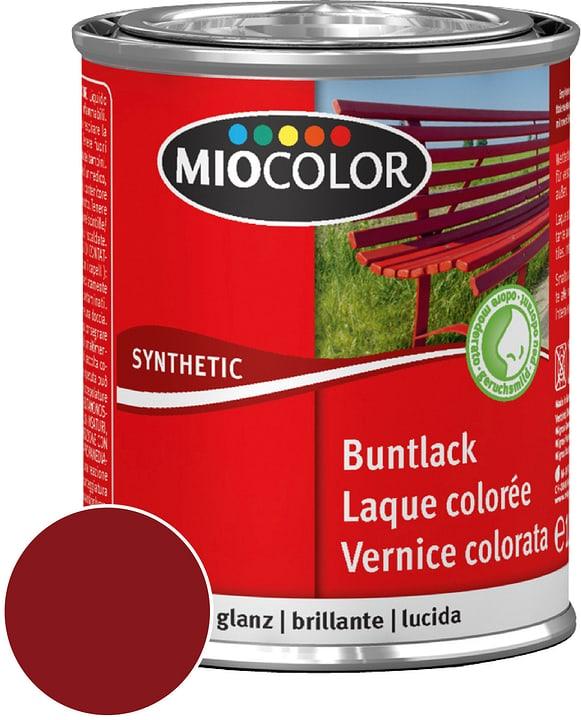 Synthetic Vernice colorata lucida Rosso vino 125 ml Miocolor 661433700000 Contenuto 125.0 ml Colore Rosso vino N. figura 1