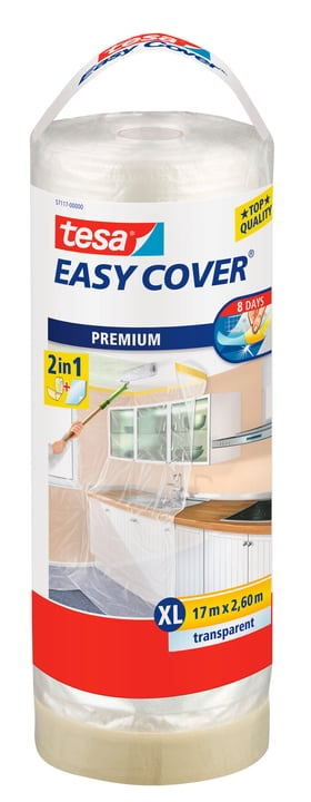 Easy Cover® PREMIUM Film - XL, Nachfüllrolle 17m:2600mm Tesa 676768800000 Bild Nr. 1