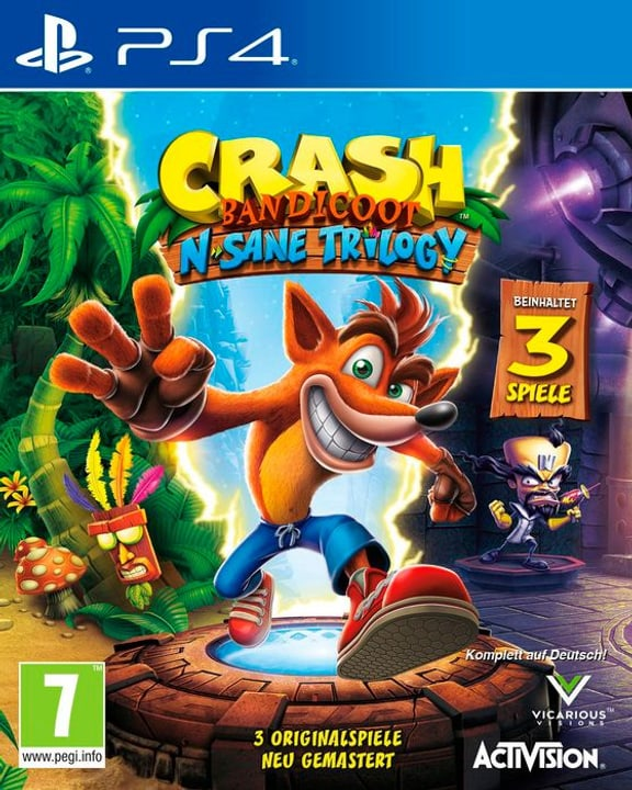 PS4 - Crash Bandicoot - N` Sane Trilogy - D Physique (Box) 785300122044 Langue Allemand Plate-forme Sony PlayStation 4 Photo no. 1