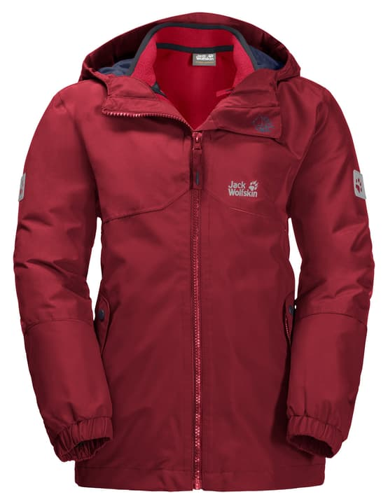 Iceland Giacca da trekking 3in1 da bambino Jack Wolfskin 466933712833 Colore rosso scuro Taglie 128 N. figura 1