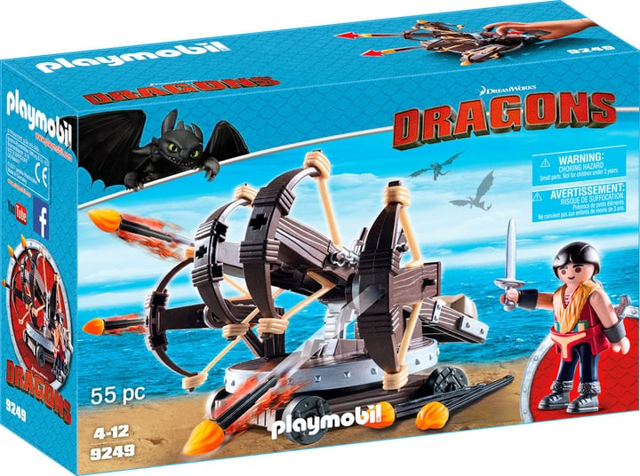Playmobil Dragons Eret et baliste à 4 projectiles de feu 9249 746086700000 Photo no. 1