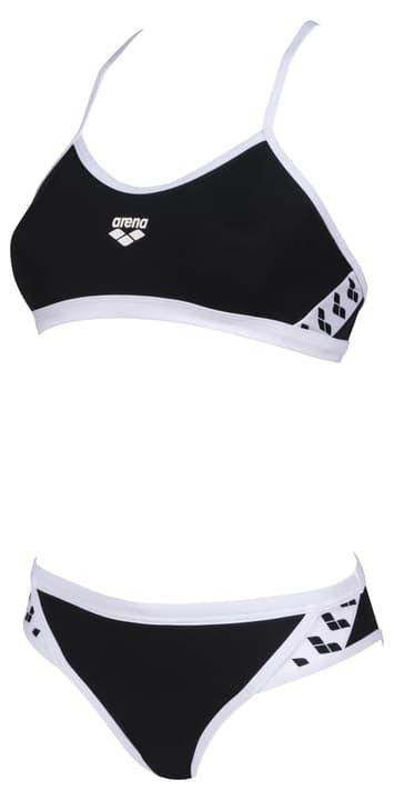 Image of Arena W Team Stripe Two Pieces Bikini schwarz