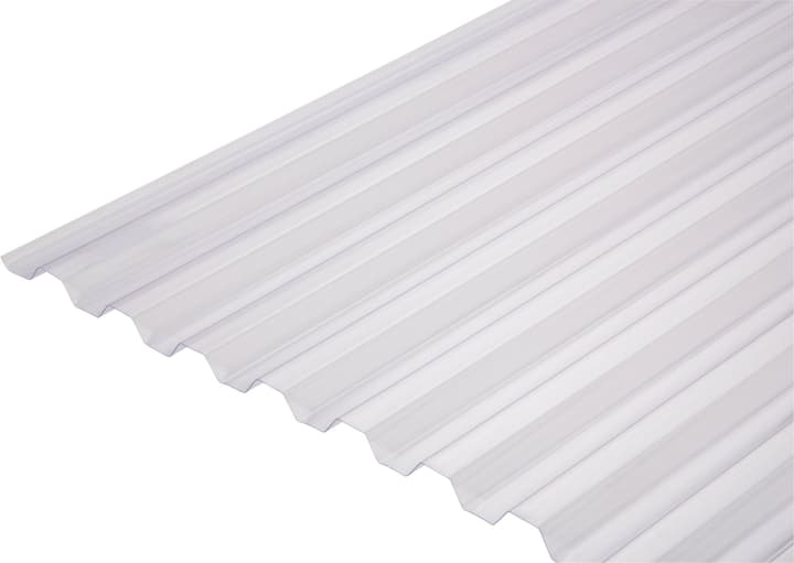 Plaques ondulées en PVC S 70/18 676419100000 Couleur Clair Taille L: 1092.0 mm x L: 2000.0 mm x H: 18.0 mm Photo no. 1