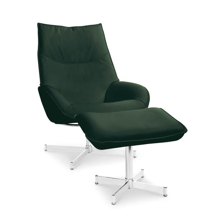 DAHLIA fauteuil et repose-pieds 360010347404 Dimensions L: 73.0 cm x P: 87.0 cm x H: 104.0 cm Couleur Vert foncé Photo no. 1
