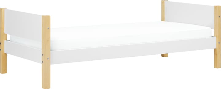 WHITE Lit simple Flexa 404653000000 Dimensions L: 100.0 cm x P: 210.0 cm x H: 67.0 cm Couleur Bouleau Photo no. 1