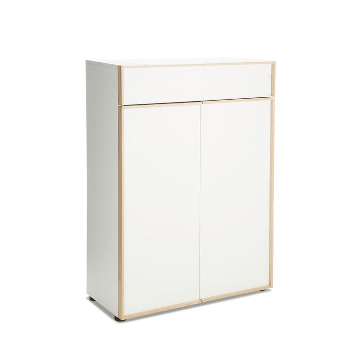 PABLO Beistellmöbel 362125100000 Farbe Weiss Grösse B: 75.0 cm x T: 36.0 cm x H: 105.4 cm Bild Nr. 1