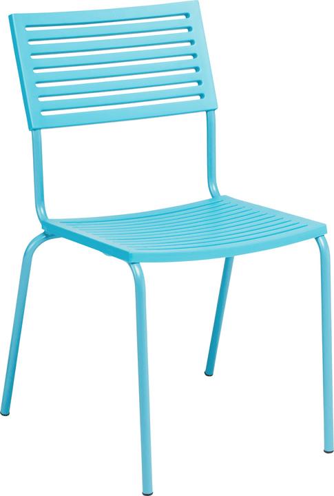 LAMELLO Chaise Schaffner 408010300044 Dimensions L: 54.0 cm x P: 58.0 cm x H: 87.0 cm Couleur Turquoise Photo no. 1