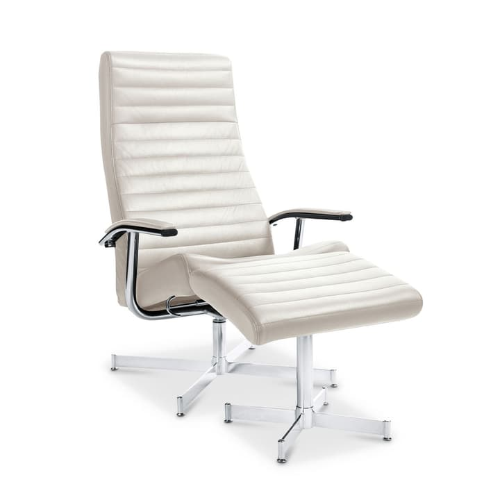 HARVEY Relax-Sessel mit Hocker 360002293204 Grösse B: 64.0 cm x T: 74.0 cm x H: 105.0 cm Farbe Weiss Bild Nr. 1