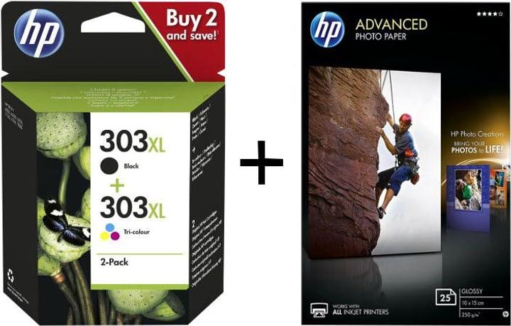 Bundle Combopack 303XL + Advanced Photo Paper 10x15 25 feuille Cartouche d'encre HP 798258200000 Photo no. 1
