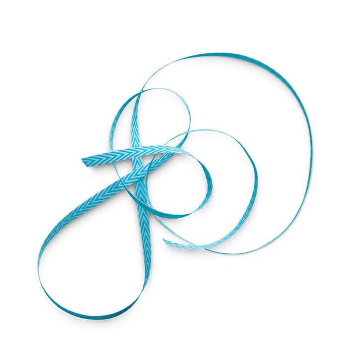 HERRINGBONE ruban 6 mm x 5 m 386181600000 Dimensions L: 5.0 cm x P: 0.6 cm x H: 0.1 cm Couleur Turquoise Photo no. 1