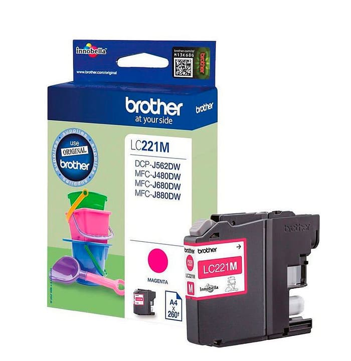 LC-221M Cartouche d'encre magenta Brother 785300124047 Photo no. 1