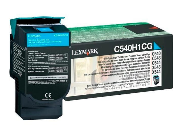 cartouche toner C540H1CG, cyan Lexmark 785300124467 Photo no. 1