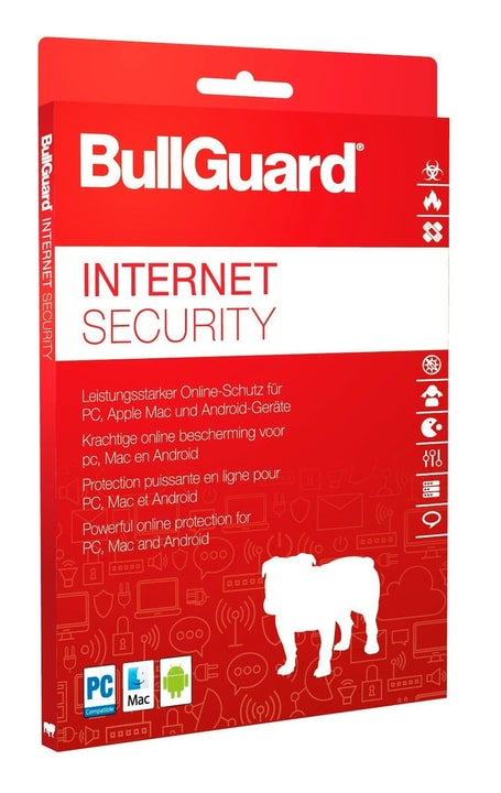 Internet Security 2018 - 1 year 3 devices PC Digitale (ESD) BullGuard 785300133457 N. figura 1