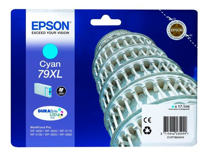 79XL DURABrite Ultra Ink  cyan Cartouche d'encre Epson 785300124974 Photo no. 1