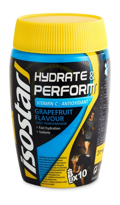 Hydrate & Perform Grapefruit Poudre 400 g Isostar 491917300000 Photo no. 1
