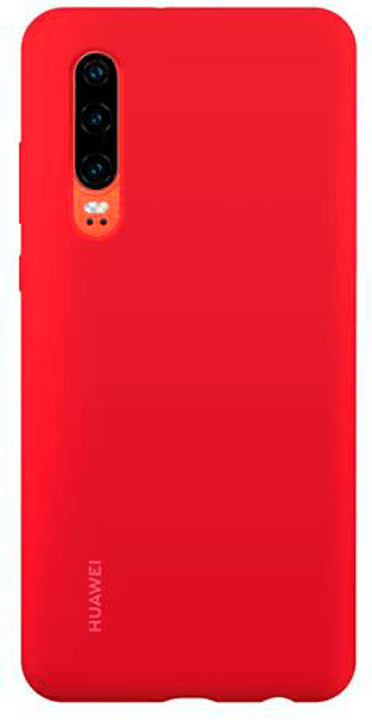 Hard-Cover Silicone Case red Hülle Huawei 785300145943 Bild Nr. 1