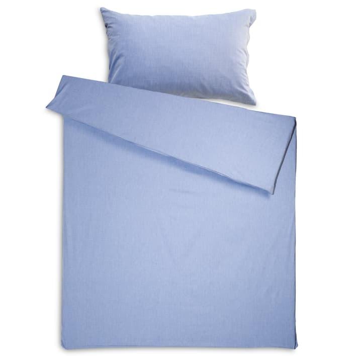 CHEVRON Taie d'oreiller jacquard 376031126001 Couleur Bleu clair Dimensions L: 70.0 cm x L: 50.0 cm Photo no. 1