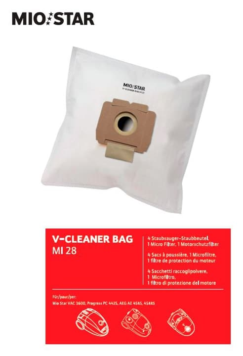 V-Cleaner Bag MI28 Sacs à possière Mio Star 717163900000 Photo no. 1