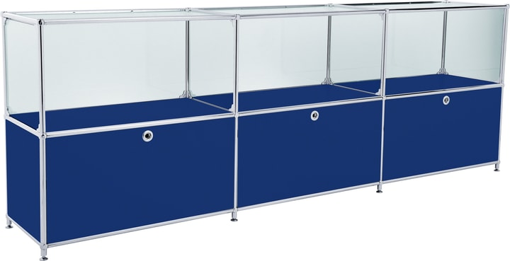 FLEXCUBE Buffet 401814530240 Dimensions L: 227.0 cm x P: 40.0 cm x H: 80.5 cm Couleur Bleu Photo no. 1