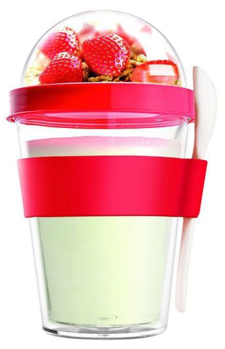 Yo2go 360ml, rosso Bicchiere per Yogurt Asobu 785300135811 N. figura 1