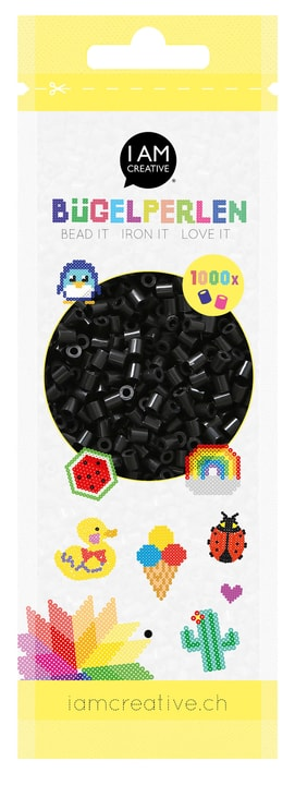 Perles à repasser noir 1'000 pcs. 666540800180 Couleur Noir Photo no. 1