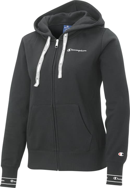 Hooded Half Zip Sweatshirt Giacca con cappuccio da donna Champion 464228700520 Colore nero Taglie L N. figura 1