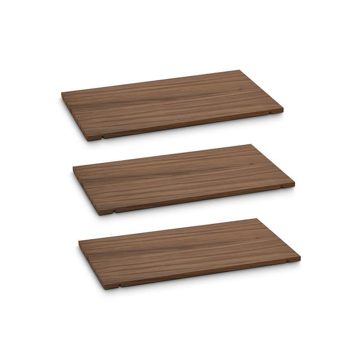 SEVEN Ripiano set da 3 60cm 362248906031 Dimensioni L: 60.0 cm x P: 1.4 cm x A: 35.5 cm Colore Noce N. figura 1
