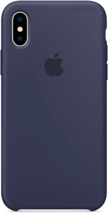 Silicone Case iPhone X Midnight Blue Hülle Apple 785300130112 Bild Nr. 1