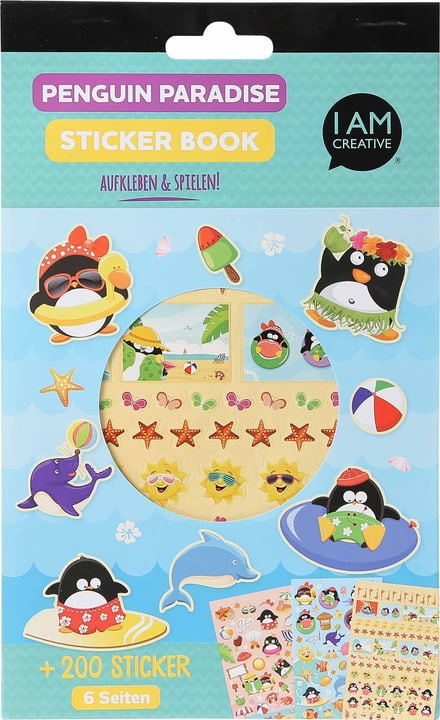 Stickerbook, Penguin Paradise, 6 foglie 666784600000 N. figura 1