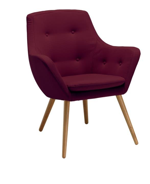 FLORIN Sessel 402441007034 Grösse B: 73.0 cm x T: 70.0 cm x H: 82.0 cm Farbe Bordeaux Bild Nr. 1