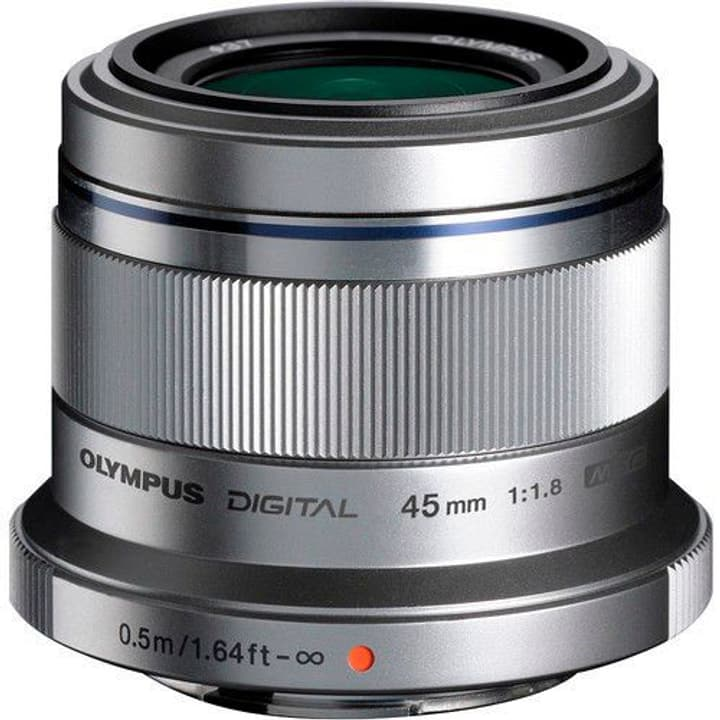 M.Zuiko DIGITAL 45mm f/1.8 Objectif argent Olympus 785300125767 Photo no. 1