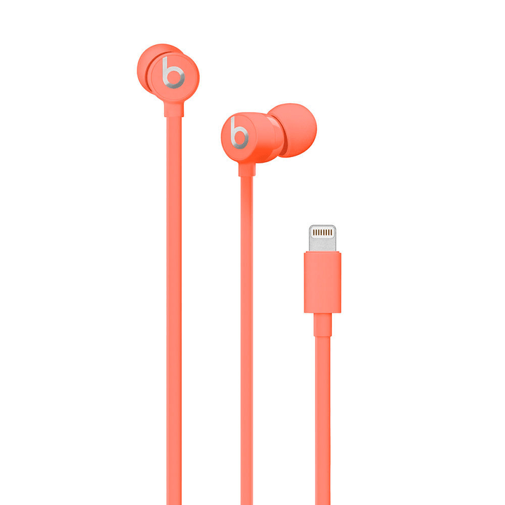 urBeats 3 Earphones with Lightning Connector, Coral Casque In-Ear Beats By Dr. Dre 785300140051 Photo no. 1