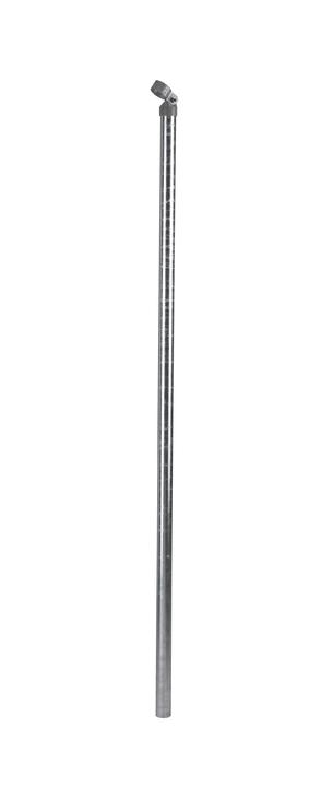 Puntello tubolare zincato 636602600000 Colore Zinco grigio Taglio A: 150.0 cm N. figura 1