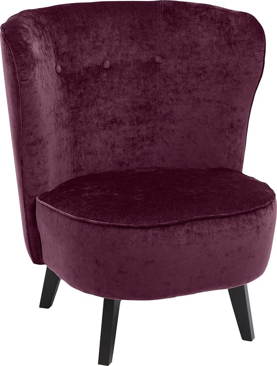 GOETHE Sessel 402461507035 Grösse B: 78.0 cm x T: 77.0 cm x H: 84.0 cm Farbe Aubergine Bild Nr. 1