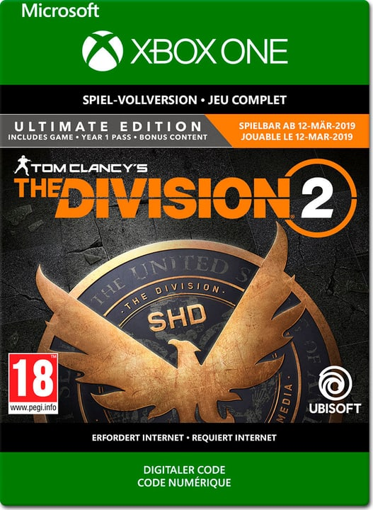 Xbox One - Tom Clancy's The Division 2: Ultimate Edition PrePurchase Download (ESD) 785300142574 N. figura 1