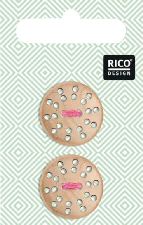 Holzknöpfe Rico 665464400000 Bild Nr. 1