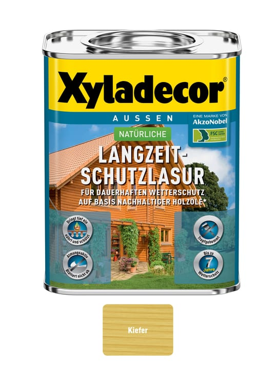 nat. smalto protezione a lungo termine Pino 750 ml XYLADECOR 661777300000 Colore Pino Contenuto 750.0 ml N. figura 1