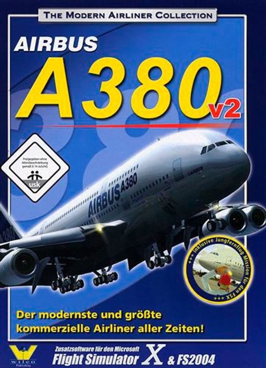PC - Wilco Airbus A380 v2 für FS2004/FSX Box 785300128484 Bild Nr. 1