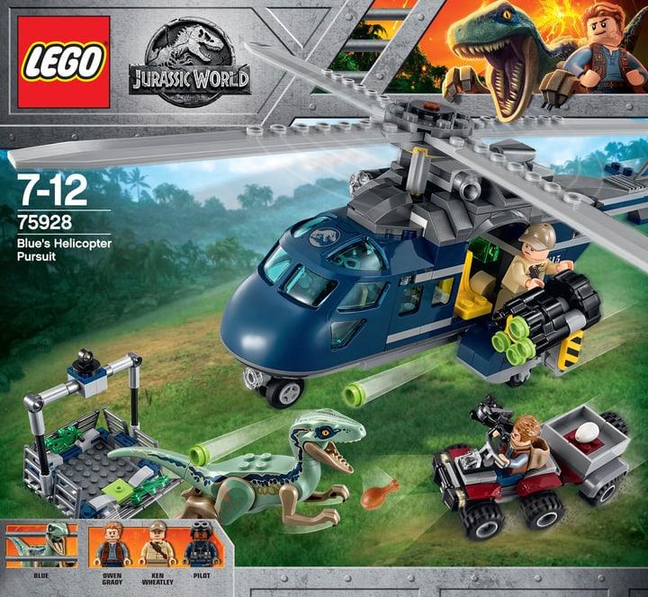 Lego Jurassic World Inseguimento sull'elicottero di Blue 75928 748879300000 N. figura 1