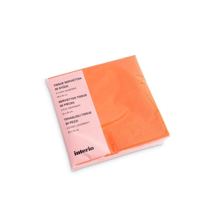 PAPER Papierservietten 393002074397 Grösse B: 12.5 cm x T: 12.5 cm x H: 4.0 cm Farbe Orange Bild Nr. 1