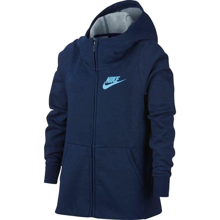 Sportswear Full-Zip Hoodie Veste à capuche pour fille Nike 464579012843 Couleur bleu marine Taille 128 Photo no. 1