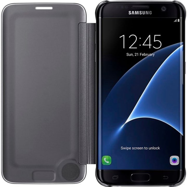 Clear View Cover S7 Edge noir Samsung 798077300000 Photo no. 1