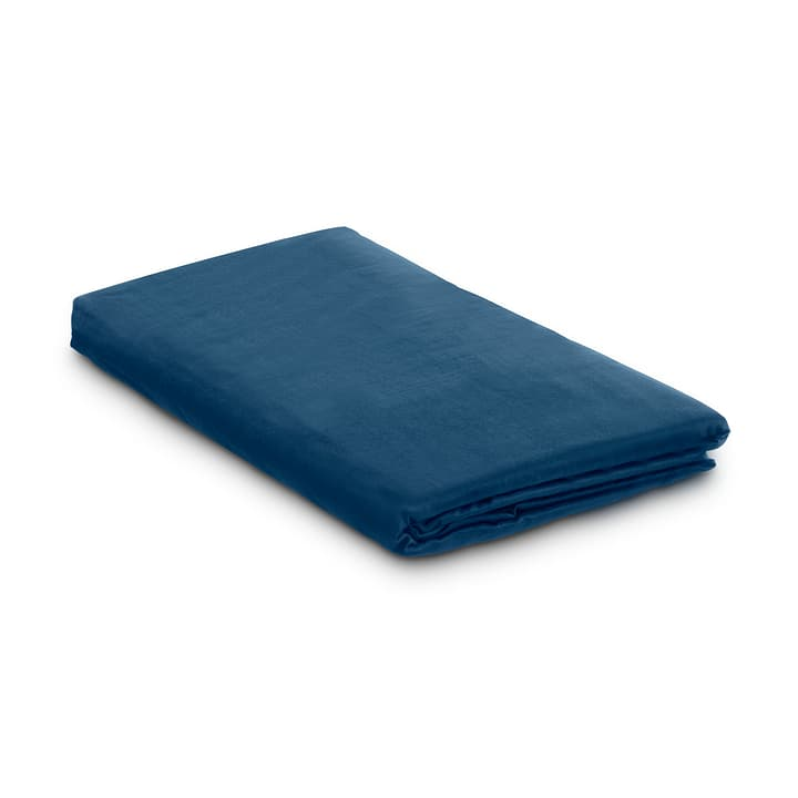 KOS Drap-housse satin 376076931043 Dimensions L: 200.0 cm x L: 90.0 cm Couleur Bleu Photo no. 1